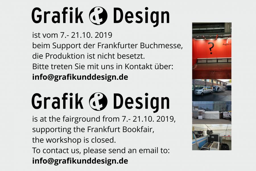 Buchmesse von Grafik und Design in 2019